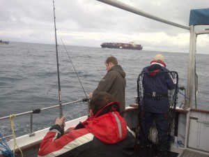 Fishing in the shipping lanes
