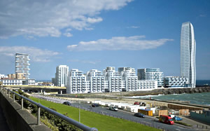 Artists impression of the new development in Brighton
