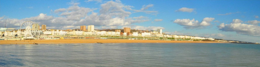 View of East Brighton from the sea