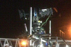 TV Camera fitted onto front of boat