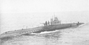 Submarine UB40 responsible for the sinking of the Ikeda and Pentyrch