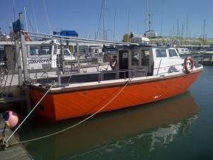 New improved Defiance back on her mooring