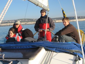 Sailing at Brighton before a race