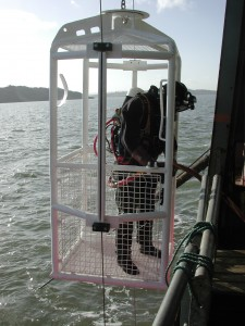 Commercial dive cage