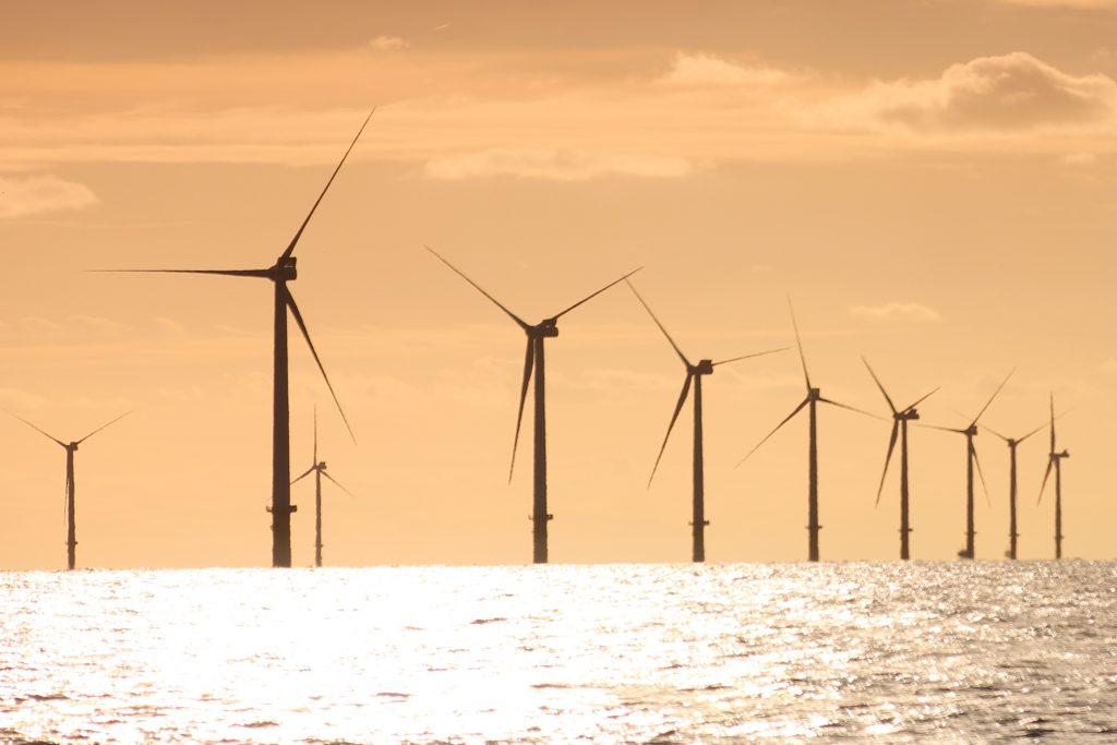 The Crown Estate manages the land for the development of offshore windfarms.